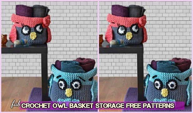 Crochet Hooty Owl Storage Basket Free Patterns