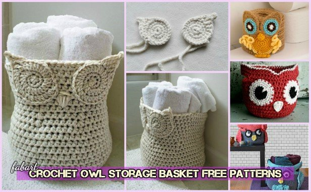 DIY Crochet Owl Basket Storage Container Free Patterns