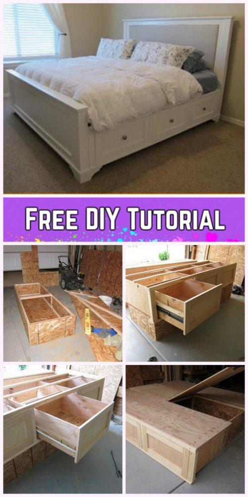 DIY King Size Storage Bed Tutorial