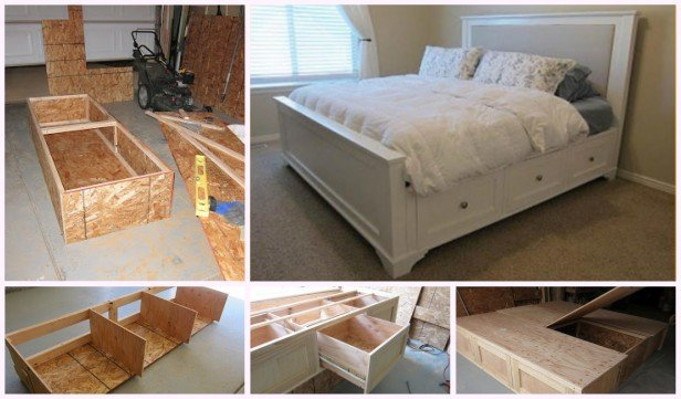 DIY King Size Storage Bed Tutorial