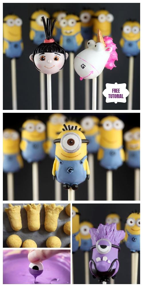 DIY Mini Minion Cake Pops Recipes & Tutorials