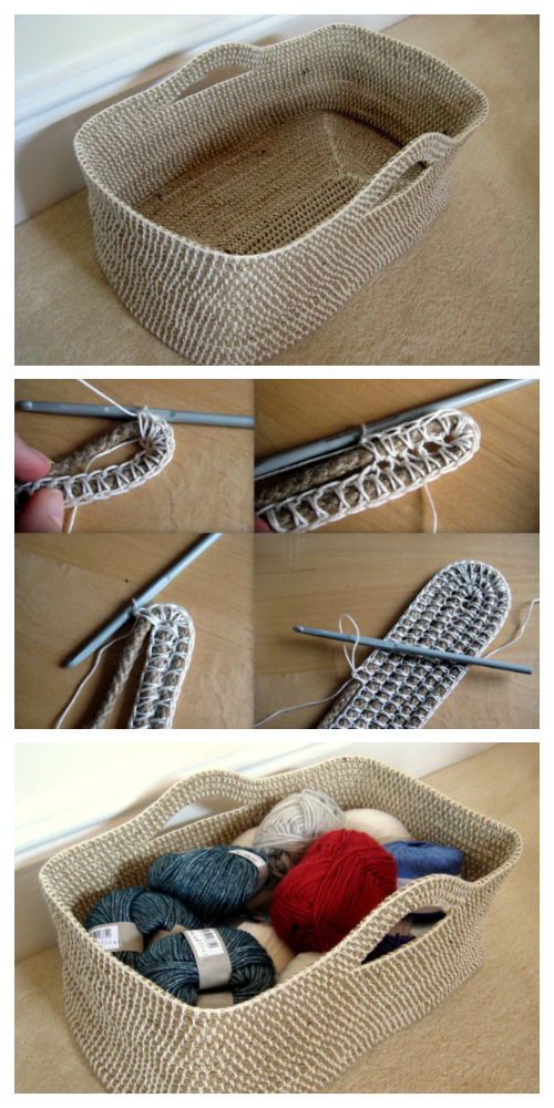 DIY Rope Basket Free Crochet Pattern + Video