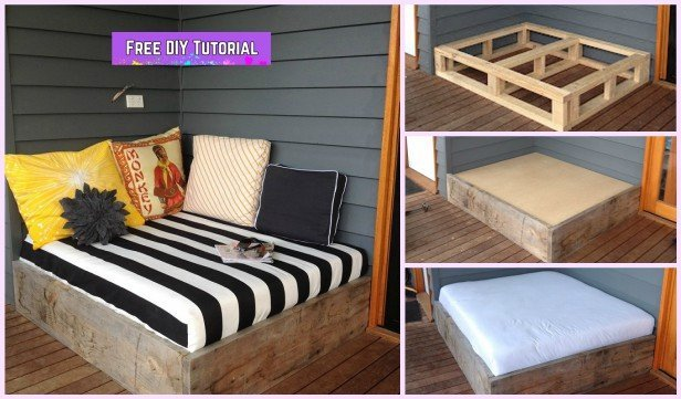 DIY Wood Day Bed Tutorial