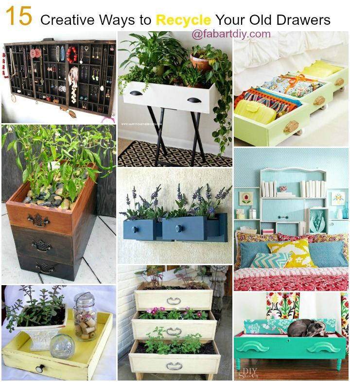 15 Creative Ways to Recycle Your Old Dresser Drawers