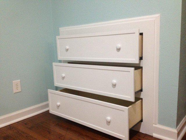 DIY How to Make Built-In Dresser