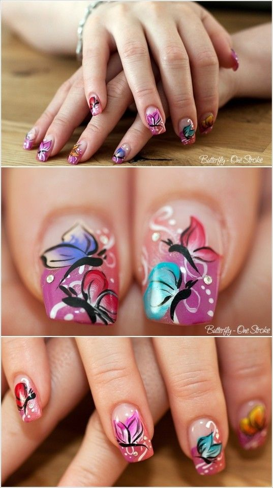 DIY Butterfly Nail Art Tutorials