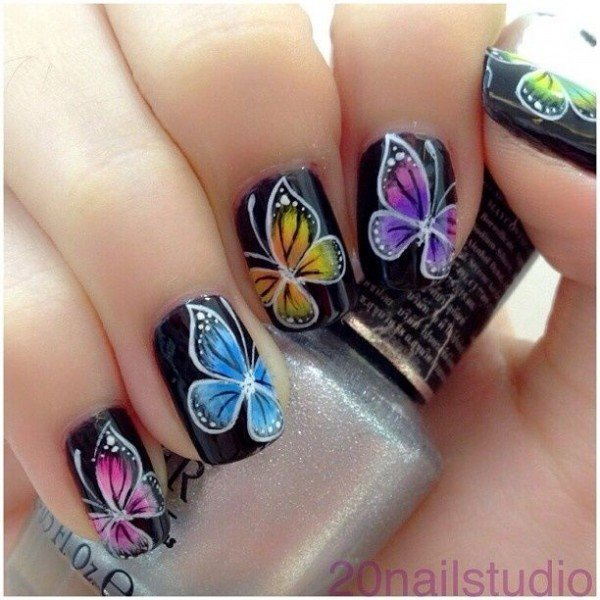 Nail Art Butterfly Easy : Easy butterfly nail art tutorial my hijab pictures to pin on