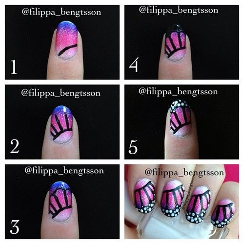 Diy butterfly nail art ideas and tutorials diy butterfly nail art tutorials publicscrutiny Choice Image