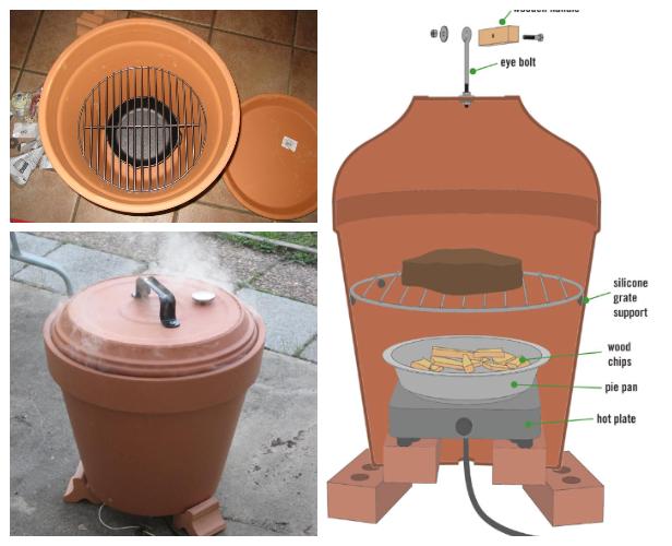 diy clay pot oven DIY How to Make Clay Pot Smoker Tutorial