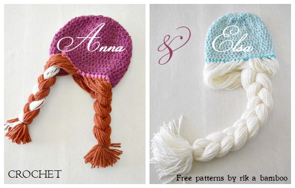 Crochet Hat Pattern For Elsa : DIY Crochet Disney Frozen Free Patterns www.FabArtDIY.com