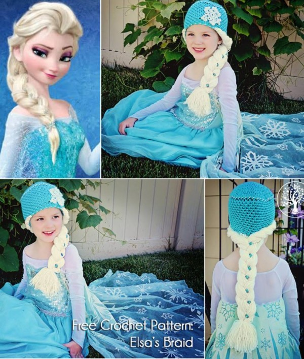 Free Crochet Patterns For Disney Hats : DIY Crochet Disney Frozen Free Patterns www.FabArtDIY.com