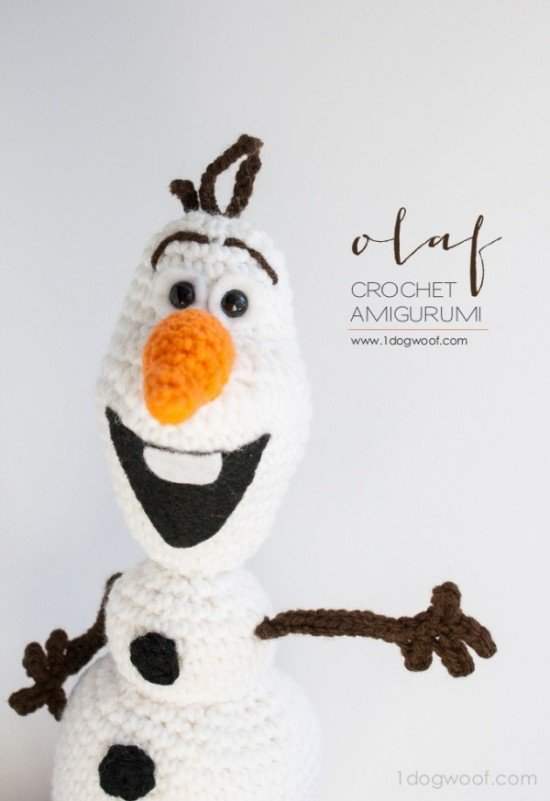 DIY Crochet Disney Frozen Free Patterns www.FabArtDIY.com