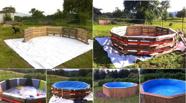 How to make swimming pool out of pallets for How to build a pool