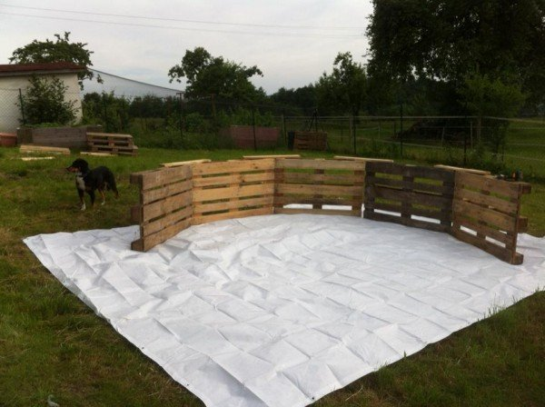 DIY How to Make Swimming Pool Out of Pallets