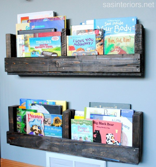 DIY Kids Pallet Furniture Ideas and Projects - diy pallet shelf