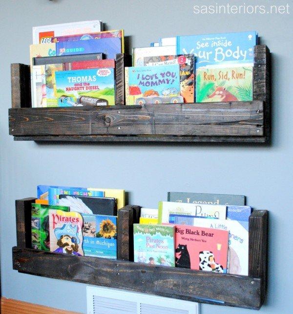 DIY Kids Pallet Furniture Ideas and Projects - diy pallet shelf