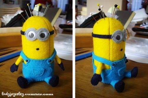 DIY Minion Pincushion Sew Free Pattern & Tutorial