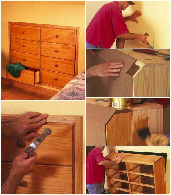 How To Convert Hidden and Unused Space Into Valuable Storage - DIY Build in Dresser