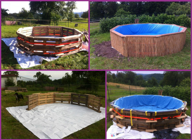 How to Make Swimming Pool Out of Pallets