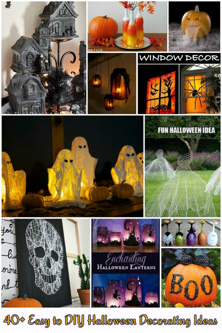 40+ Easy To Make DIY Halloween Decor Ideas