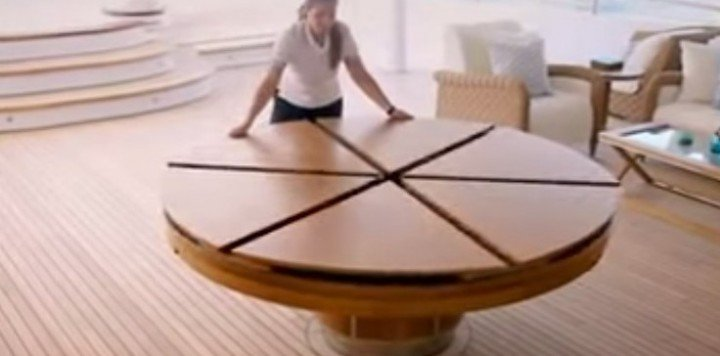 Creative design of expandable round dining table for Creative design table