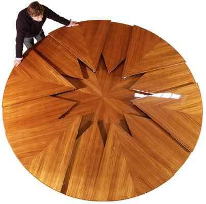 Creative Design Of Expandable Round Dining Table5