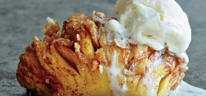 DIY Hasselback Baked Apples