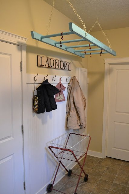 DIY Wall Mounted Laundry Drying Rack