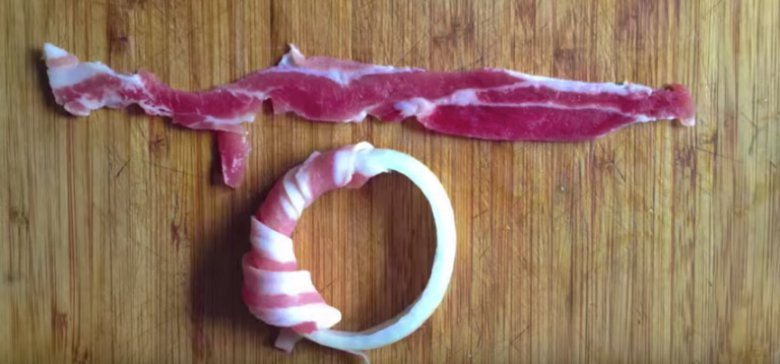Easy Bacon Wrapped Onion Rings