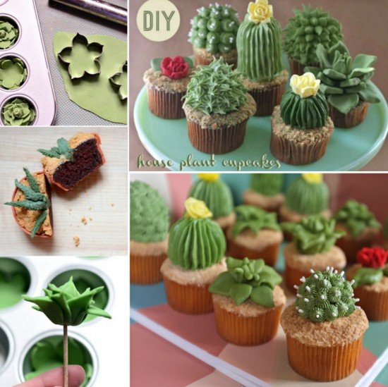 How to DIY Succulent Cupcakes
