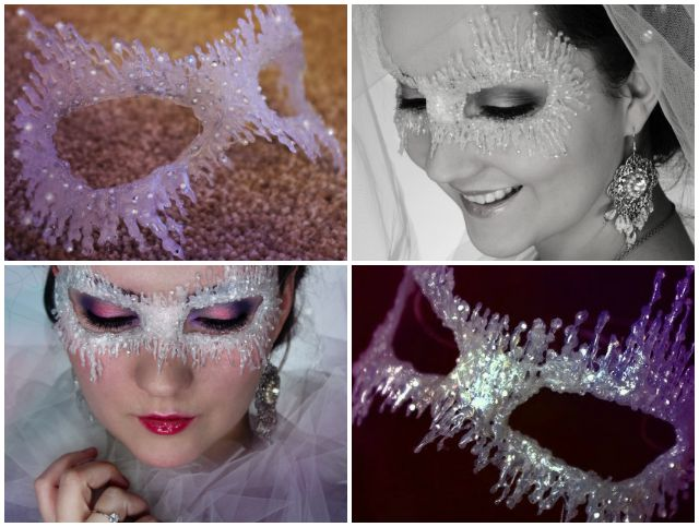 How to Make Hot Glue Ice Queen Mask