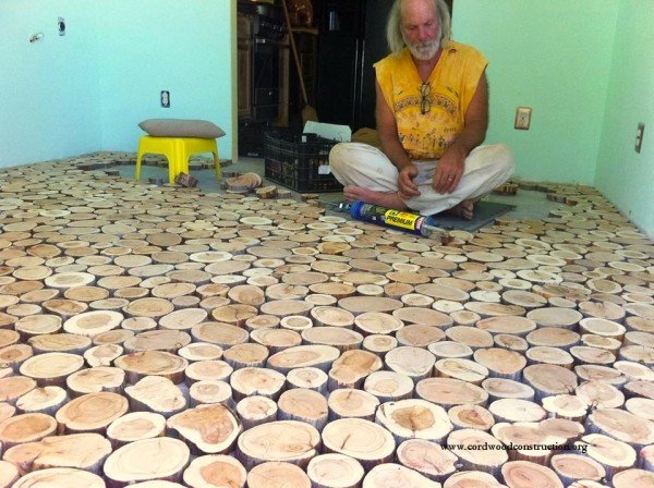 They Laid Wooden Discs On the Floor! The Result? An Incredible Makeover