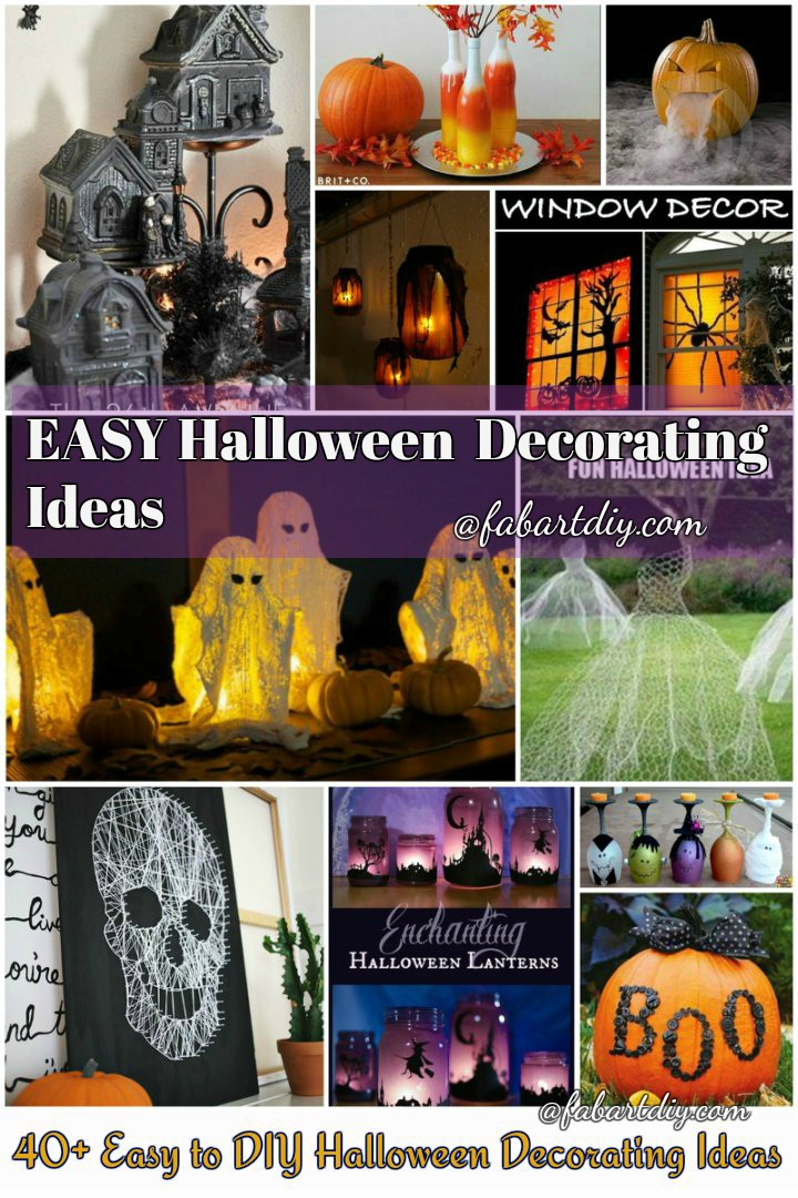 40+ Easy to DIY Halloween Decorating Crafts and Ideas