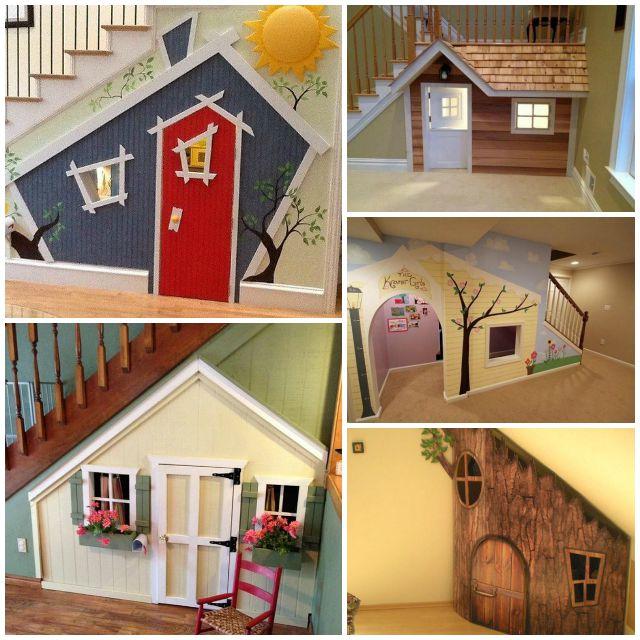 10 Kids Under Stair Playhouse Diy Ideas