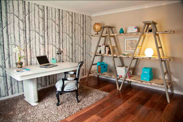 20 Creative Ways to Use Ladders for Vintage Home Decorating