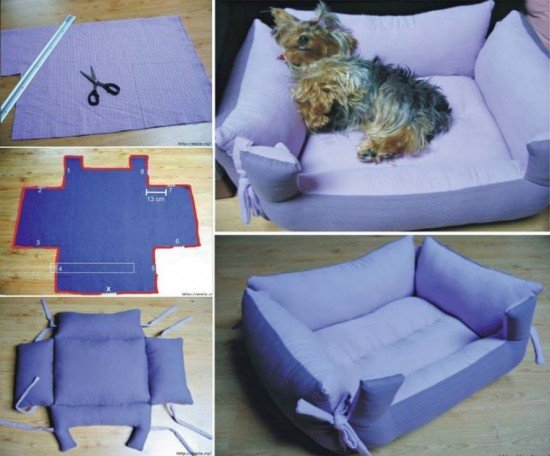30 brilliant pet bed diy ideas with tutorials www for Homemade pet beds