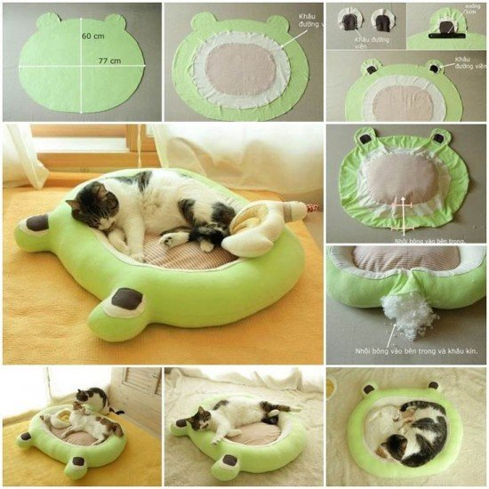 30+ Brilliant Pet Bed DIY Ideas with Tutorials