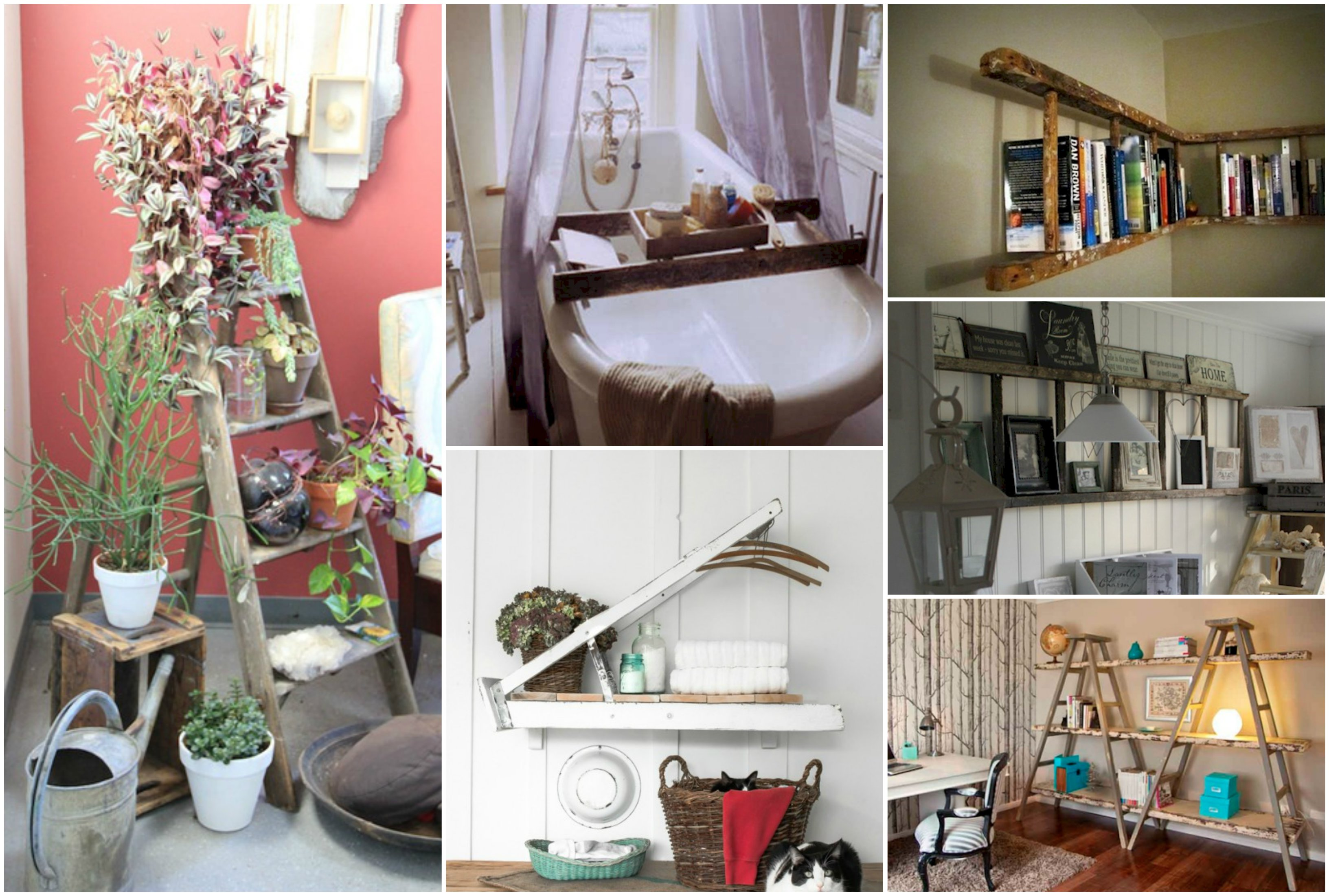 20+ Creative Ways to Use Ladders for Home Decorating