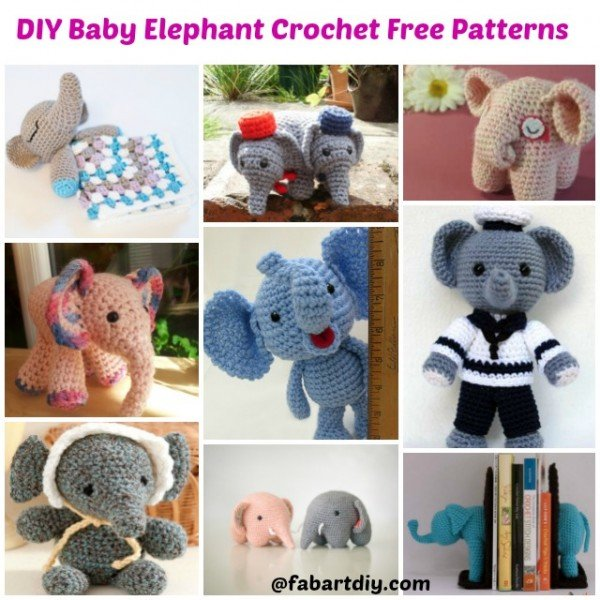 DIY Baby Elephant Crochet Amigurumi Free Patterns