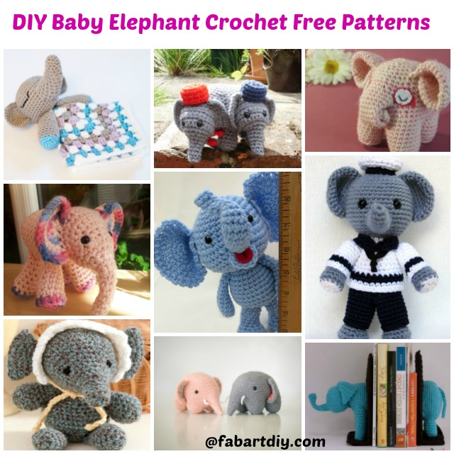DIY Baby Elephant Crochet Free Patterns