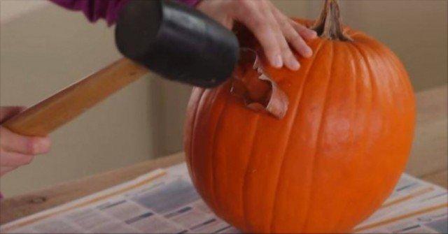 DIY Cookie Cutter Pumpkin Carving - video