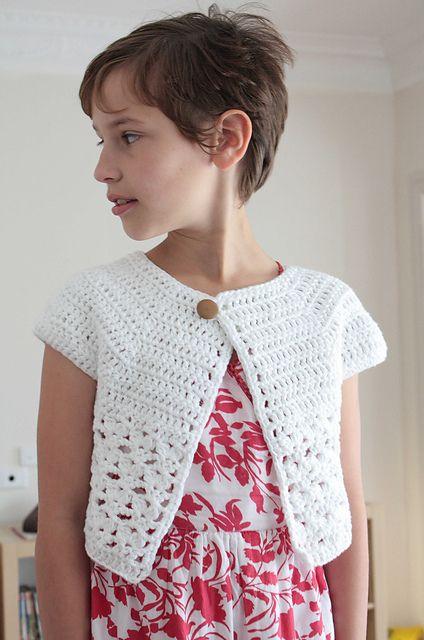 DIY Crochet Bebop Or Urban Girl Cropped Cardi Free Crochet Pattern