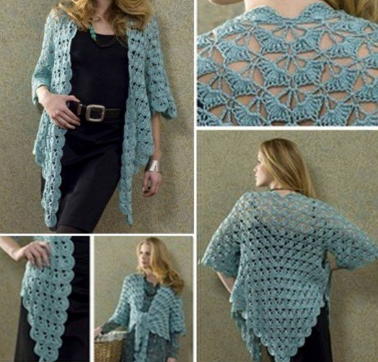 Free Crochet Pattern For Sweater Coat : Crochet Cardigan Sweater Coat Free Patterns