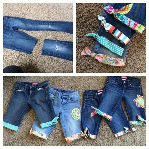 DIY Cuffed Cut Off Jean Shorts Tutorials