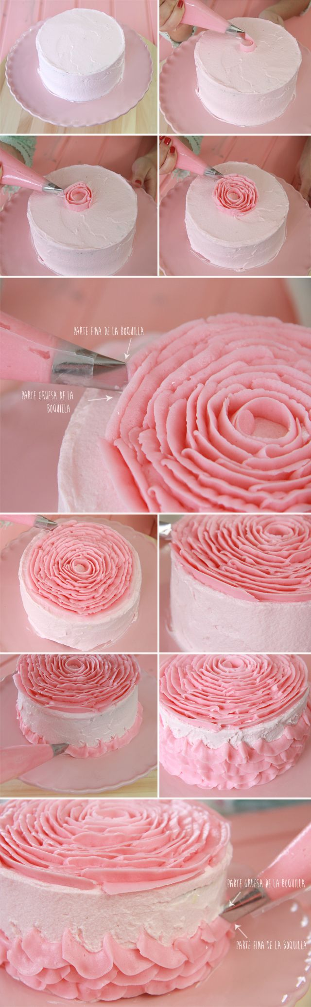 DIY Fabulous Rose Cake Decorating
