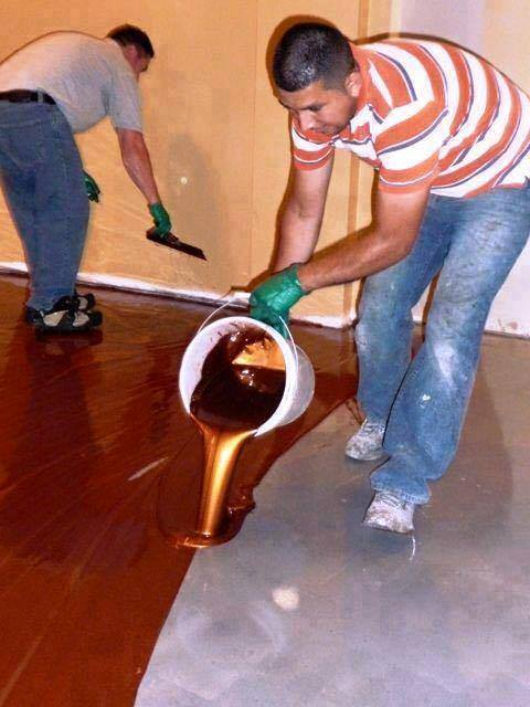 Diy metallic epoxy floor for Garage floor ideas cheap