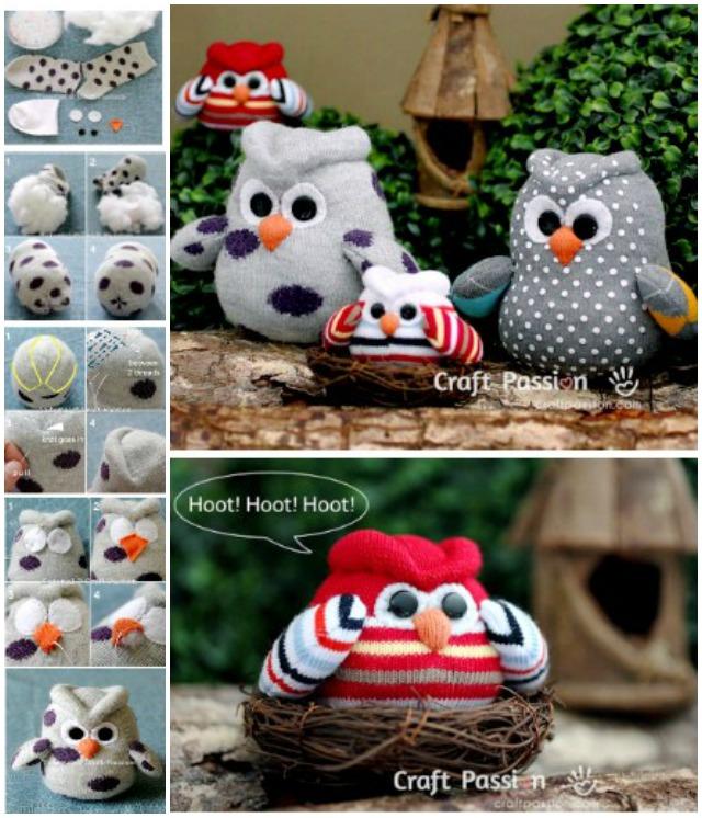 DIY Sock Owl Tutorial Free Pattern