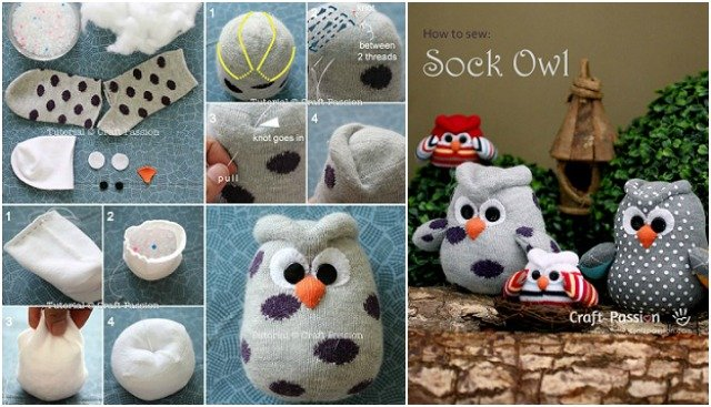 DIY Sock Owl Tutorial Free Pattern