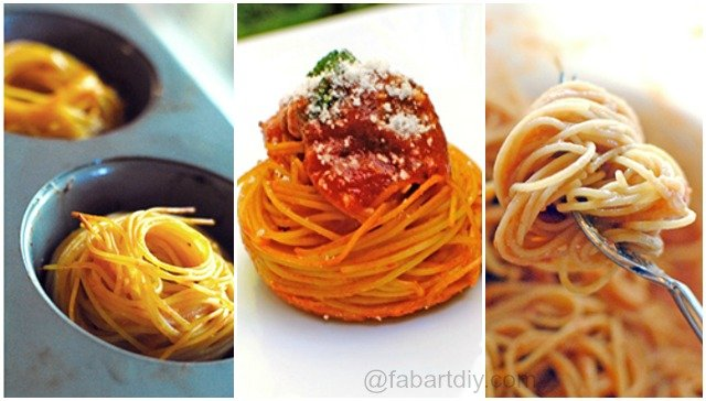 DIY Spaghetti Meatballs Muffin Bites Recipe