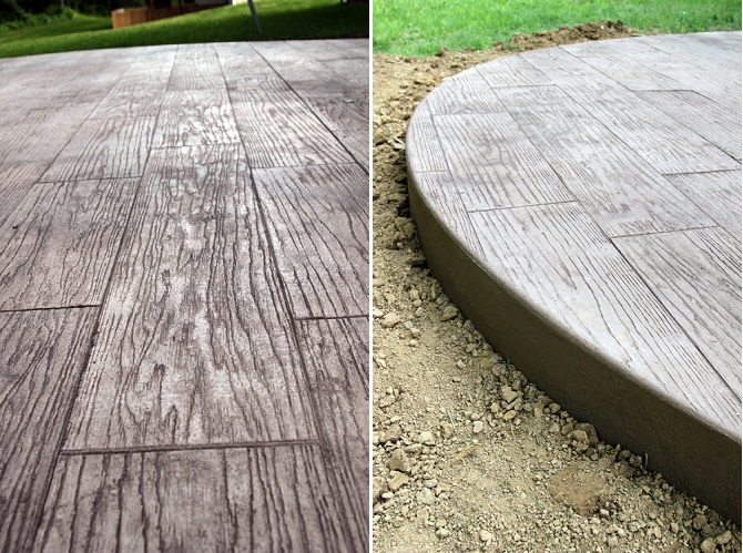 DIY Stamped Concrete Wood 1